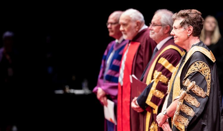 Chancellor Suzanne Labarge at convocation ceremony